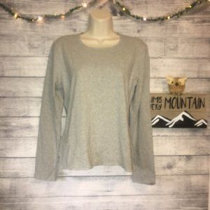 Liz Claiborne Gray Long Sleeve Soft Shirt Size M